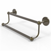 Allied Brass P1072/18-ABR Prestige Skyline Collection 18 Inch Double Towel Bar, Antique Brass