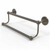 Allied Brass P1072/24-ABR Prestige Skyline Collection 24 Inch Double Towel Bar, Antique Brass