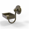 Allied Brass PMC-32-ABR Prestige Monte Carlo Wall Mounted Soap Dish, Antique Brass