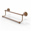 Allied Brass PMC-72/18-BBR Prestige Monte Carlo Collection 18 Inch Double Towel Bar, Brushed Bronze