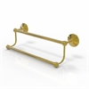 Allied Brass PMC-72/18-UNL Prestige Monte Carlo Collection 18 Inch Double Towel Bar, Unlacquered Brass