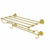 Allied Brass PMC-HTL/24-5-UNL Prestige Monte Carlo Collection 24 Inch Train Rack Towel Shelf, Unlacquered Brass