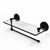 PQN-1PT/16-BKM Prestige Que New Collection Paper Towel Holder with 16 Inch Glass Shelf, Matte Black