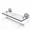 Allied Brass PQN-1PT/16-PC Prestige Que New Collection Paper Towel Holder with 16 Inch Glass Shelf, Polished Chrome