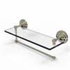 Allied Brass PQN-1PT/16-PNI Prestige Que New Collection Paper Towel Holder with 16 Inch Glass Shelf, Polished Nickel
