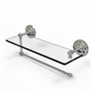 Allied Brass PQN-1PT/16-SN Prestige Que New Collection Paper Towel Holder with 16 Inch Glass Shelf, Satin Nickel