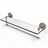 Allied Brass PQN-1PT/22-PEW Prestige Que New Collection Paper Towel Holder with 22 Inch Glass Shelf, Antique Pewter