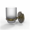 Allied Brass PQN-64-ABR Prestige Que New Collection Wall Mounted Votive Candle Holder, Antique Brass