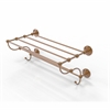 Allied Brass PQN-HTL/24-5-BBR Prestige Que New Collection 24 Inch Train Rack Towel Shelf, Brushed Bronze