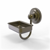 Allied Brass PQN-WG2-ABR Prestige Que New Collection Wall Mounted Soap Dish, Antique Brass