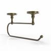 Allied Brass PR-25EC-ABR Prestige Regal Under Cabinet Paper Towel Holder, Antique Brass