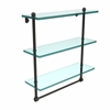 Allied Brass PR-5/16TB-ORB 16 Inch Triple Tiered Glass Shelf with Integrated Towel Bar, Oil Rubbed Bronze