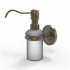 Allied Brass PR-60-ABR Prestige Regal Collection Wall Mounted Soap Dispenser, Antique Brass