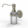Allied Brass PR-60-PNI Prestige Regal Collection Wall Mounted Soap Dispenser, Polished Nickel