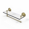 Allied Brass PRBP-1PT/16-SBR Prestige Regal Collection Paper Towel Holder with 16 Inch Glass Shelf, Satin Brass