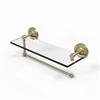 Allied Brass PRBP-1PT/16-SBR Prestige Regal Collection Paper Towel Holder with 16 Inch Glass Shelf, Satin Brass