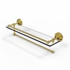 Allied Brass PRBP-1PT/22-GAL-UNL Prestige Regal Collection Paper Towel Holder with 22 Inch Gallery Glass Shelf, Unlacquered Brass