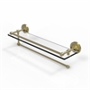 Allied Brass PRBP-1PT/22-GAL-SBR Prestige Regal Collection Paper Towel Holder with 22 Inch Gallery Glass Shelf, Satin Brass