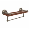 Allied Brass PRBP-1TB-16-GAL-IRW-PEW Prestige Regal Collection 16 Inch IPE Ironwood Shelf with Gallery Rail and Towel Bar, Antique Pewter