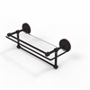 Allied Brass PRBP-1TB/16-GAL-ORB 16 Inch Gallery Glass Shelf with Towel Bar, Oil Rubbed Bronze