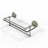 Allied Brass PRBP-1TB/16-GAL-PNI 16 Inch Gallery Glass Shelf with Towel Bar, Polished Nickel