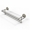 Allied Brass PRBP-1TB/22-GAL-PNI 22 Inch Gallery Glass Shelf with Towel Bar, Polished Nickel