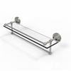 Allied Brass PRBP-1TB/22-GAL-SN 22 Inch Gallery Glass Shelf with Towel Bar, Satin Nickel