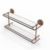 Allied Brass PRBP-2/22-GAL-BBR Prestige Regal 22 Inch Double Glass Shelf with Gallery Rail, Brushed Bronze