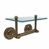 Allied Brass PR-GLT-24-BBR Prestige Regal Collection Two Post Toilet Tissue Holder with Glass Shelf, Brushed Bronze