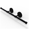 Allied Brass PR-GT-3-BKM Prestige Regal Collection Wall Mounted Horizontal Guest Towel Holder, Matte Black