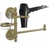 Allied Brass PR-GTBD-1-ABR Prestige Regal Collection Hair Dryer Holder and Organizer, Antique Brass