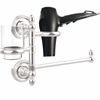 Allied Brass PR-GTBD-1-PC Prestige Regal Collection Hair Dryer Holder and Organizer, Polished Chrome