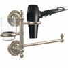 Allied Brass PR-GTBD-1-PEW Prestige Regal Collection Hair Dryer Holder and Organizer, Antique Pewter