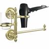 Allied Brass PR-GTBD-1-SBR Prestige Regal Collection Hair Dryer Holder and Organizer, Satin Brass