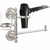 Allied Brass PR-GTBD-1-SN Prestige Regal Collection Hair Dryer Holder and Organizer, Satin Nickel