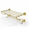 Allied Brass PR-HTL/36-5-UNL Prestige Regal Collection 36 Inch Train Rack Towel Shelf, Unlacquered Brass