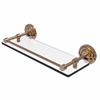 Allied Brass QN-1/16-GAL-BBR Que New 16 Inch Tempered Glass Shelf with Gallery Rail, Brushed Bronze