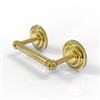 Allied Brass QN-24-UNL Que New Collection 2 Post Toilet Tissue Holder, Unlacquered Brass