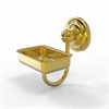 Allied Brass QN-WG2-UNL Que New Collection Wall Mounted Soap Dish, Unlacquered Brass