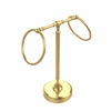 Allied Brass RDM-3-UNL Vanity Top 2 Towel Ring Guest Towel Holder, Unlacquered Brass