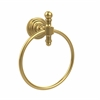 Allied Brass RW-16-UNL Retro Wave Collection Towel Ring, Unlacquered Brass