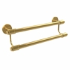 Allied Brass TR-72/18-UNL Tribecca Collection 18 Inch Double Towel Bar, Unlacquered Brass