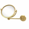 Allied Brass WM-5D/4X-UNL 8 Inch Wall Mounted Make-Up Mirror 4X Magnification, Unlacquered Brass
