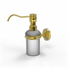 Allied Brass WP-60-UNL Waverly Place Collection Wall Mounted Soap Dispenser, Unlacquered Brass