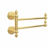 Allied Brass WP-GTB-2-UNL Waverly Place Collection 2 Swing Arm Towel Rail, Unlacquered Brass