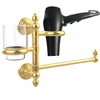 Allied Brass WP-GTBD-1-UNL Waverly Place Collection Hair Dryer Holder and Organizer, Unlacquered Brass