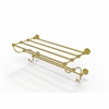 Allied Brass WP-HTL/24-5-UNL Waverly Place Collection 24 Inch Train Rack Towel Shelf, Unlacquered Brass