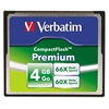 Verbatim Premium CompactFlash Memory Card, 4GB, 66X Read Speed/60X Write Speed