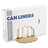 High-Density Can Liner, 38x58, 60gal, 11 Mic, Natural, 25 Bags/RL, 8 Rolls/CT