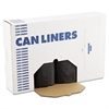 Boardwalk SH-Grade Can Liners, 43 x 47, 56gal, 1.2mil, Black, 10 Bags/Roll, 10 Rolls/CT